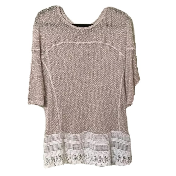 YUNY Men Scoop Knitting Pullover Oversize Knitted Pullover Sweaters 3 S